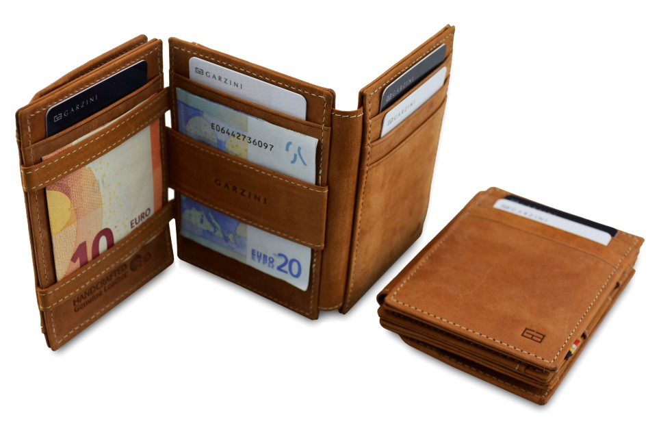 Garzini Essenziale Magic Wallet Camel Brown